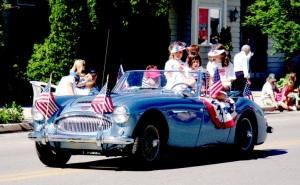 patriotic car