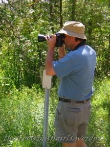 Burt snapping Rush Lake