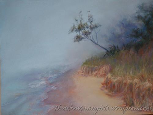 Leaning Tree in Fog