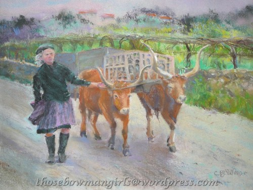 """To Market""  pastel by Carol"
