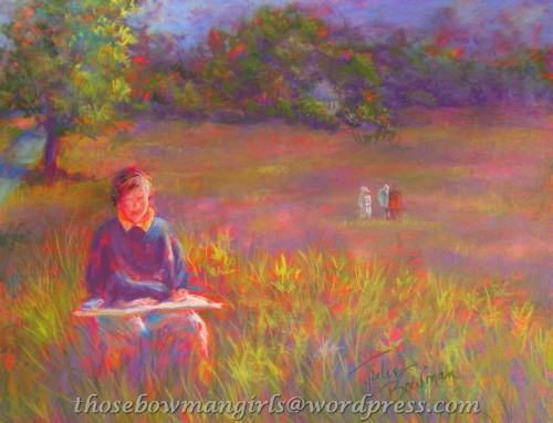 """Plein Air Afternoon""  pastel by Julie"