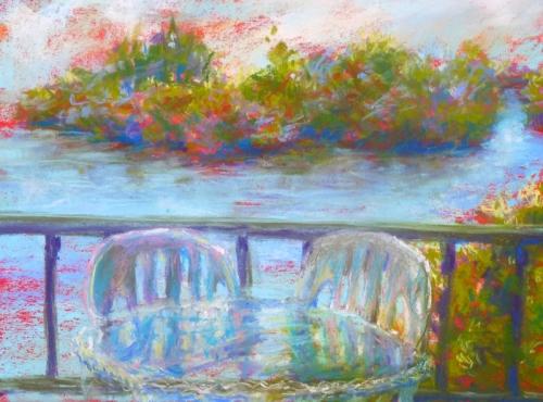 """""""View from Kona Joe's"""" pastel by Julie"""