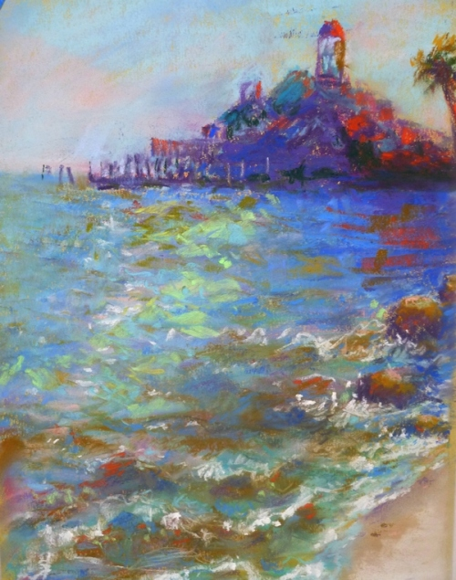 Pastel of Dock Street by Julie