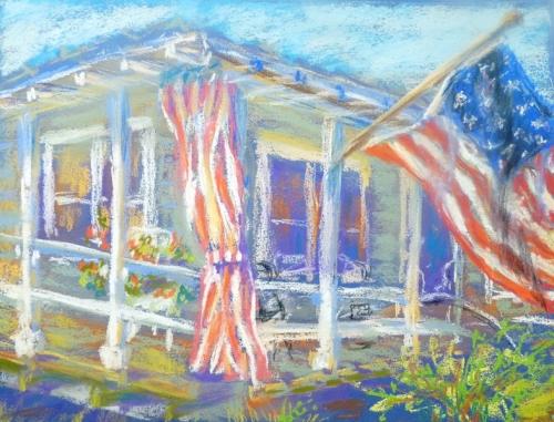 """""""Striped"""" pastel by Julie $100"""