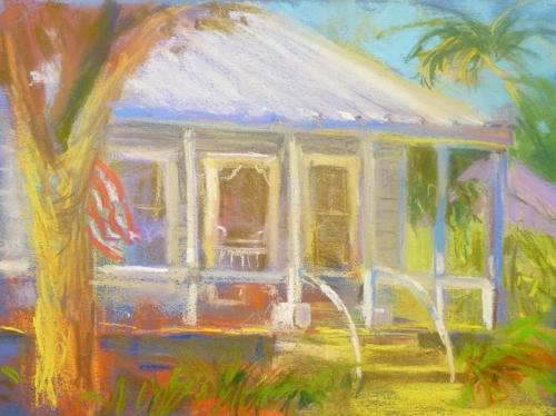 """White Cottage""  pastel by Carol $100"